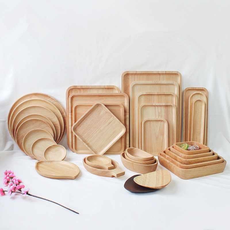 Rubber Japanese Wood Plates