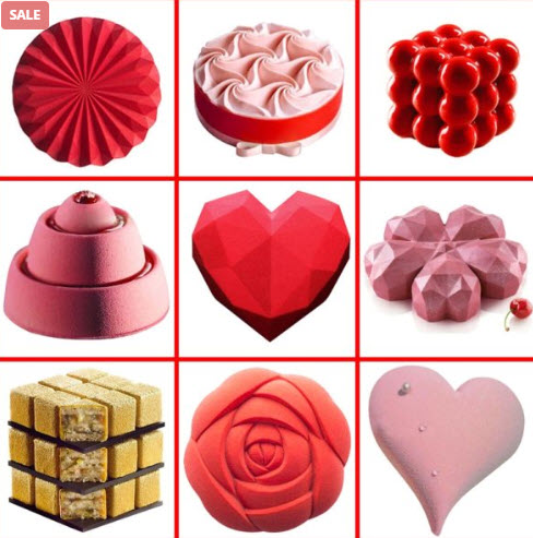Family Foundation: Heart Silicone Pastry Moldings